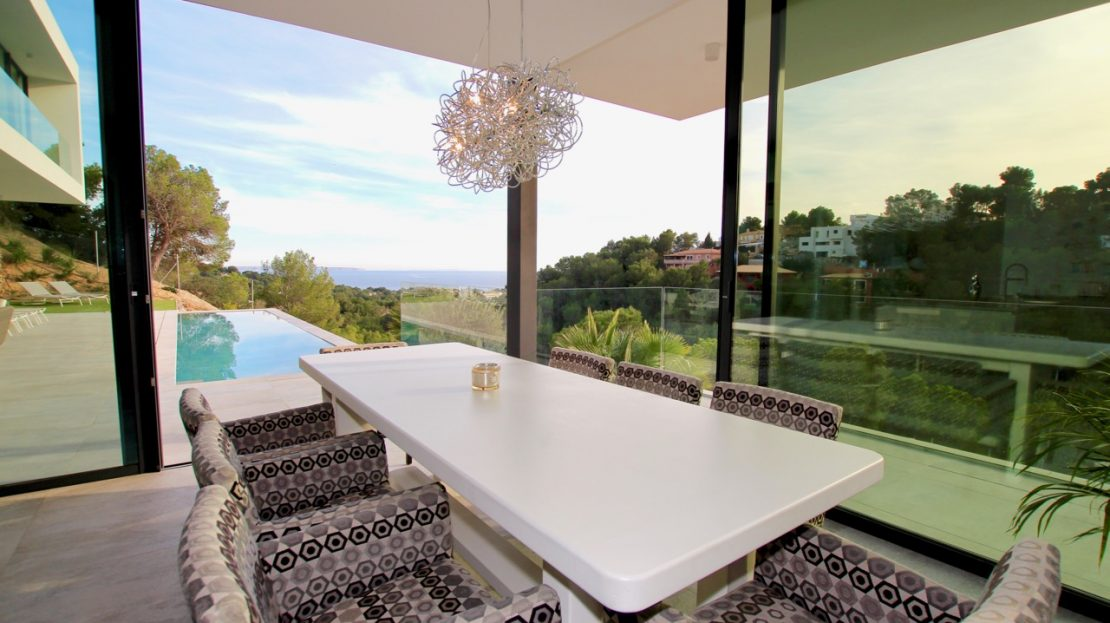 Super modern and brand new sea view villa in Costa den Blanes